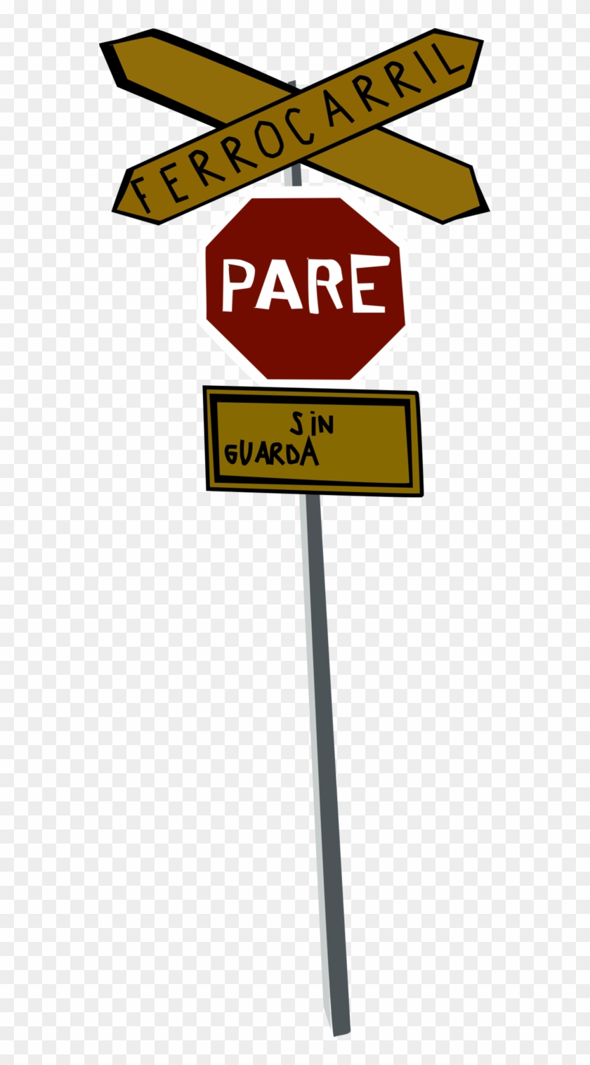 graphic regarding Railroad Crossing Sign Printable identify Peru Railroad Crossing Indicator As a result of Oceanrailroader - Targeted traffic