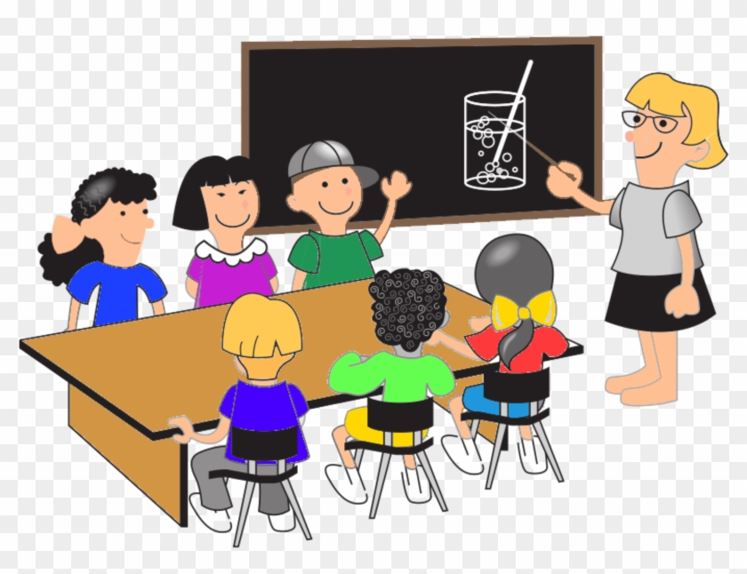 College Students Clip Art Png - Students At Desks Clipart #714866
