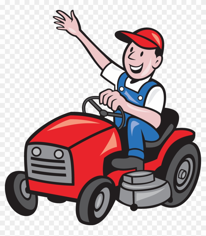ride on lawn mower clipart free transparent png clipart images rh clipartmax com lawn mowing clipart free Woman with Lawn Mower Clip Art Free