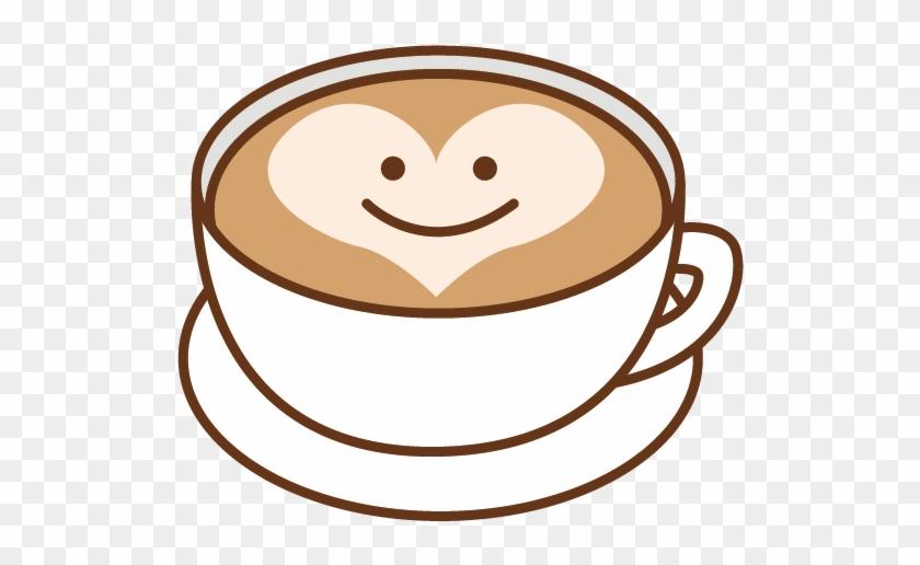 Coffee Latte Espresso Barley Tea Cafe - Cup Of Coffee Latte Cartoon #716503