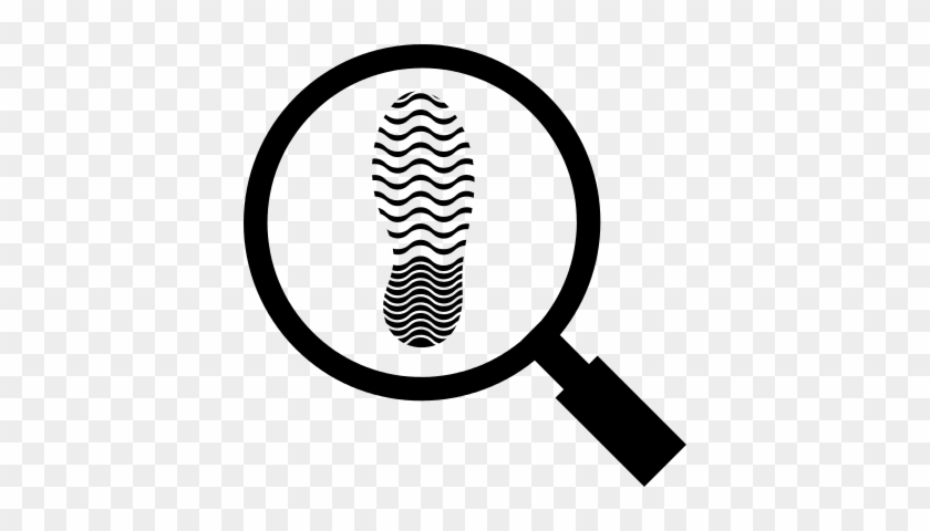shoe footprint under observation with a magnifier tool magnifying glass icon transparent free transparent png clipart images download magnifying glass icon transparent