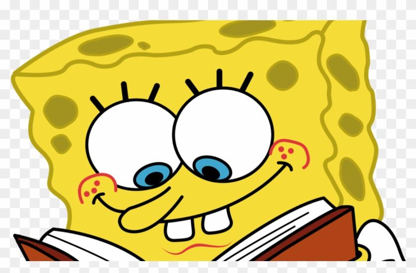 Sponge Bob Clip Art - Cartoon Character Reading A Book #717467