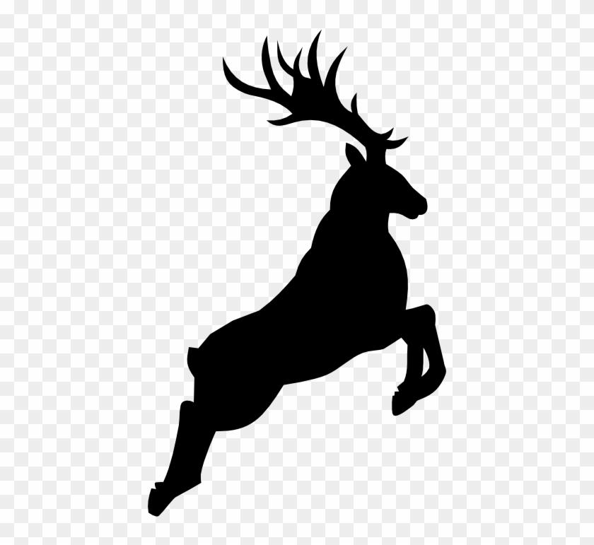 Large Santa Sleigh Reindeer Silhouette Die By Simplymadescrapbooks