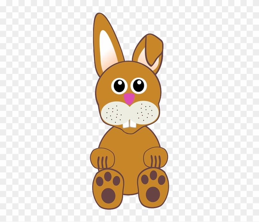 Bunny, Rabbit, Hare, Easter, Cartoon, Comic, Brown - Cartoon Rabbit Face #718390