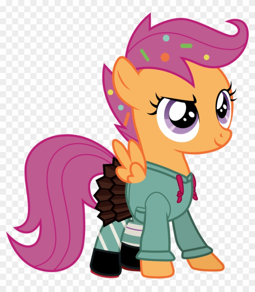 Scootaloo As Vanellope By Cloudyglow Cutie Mark Crusaders Scootaloo Free Transparent Png Clipart Images Download A collection of artwork of scootaloo. clipartmax