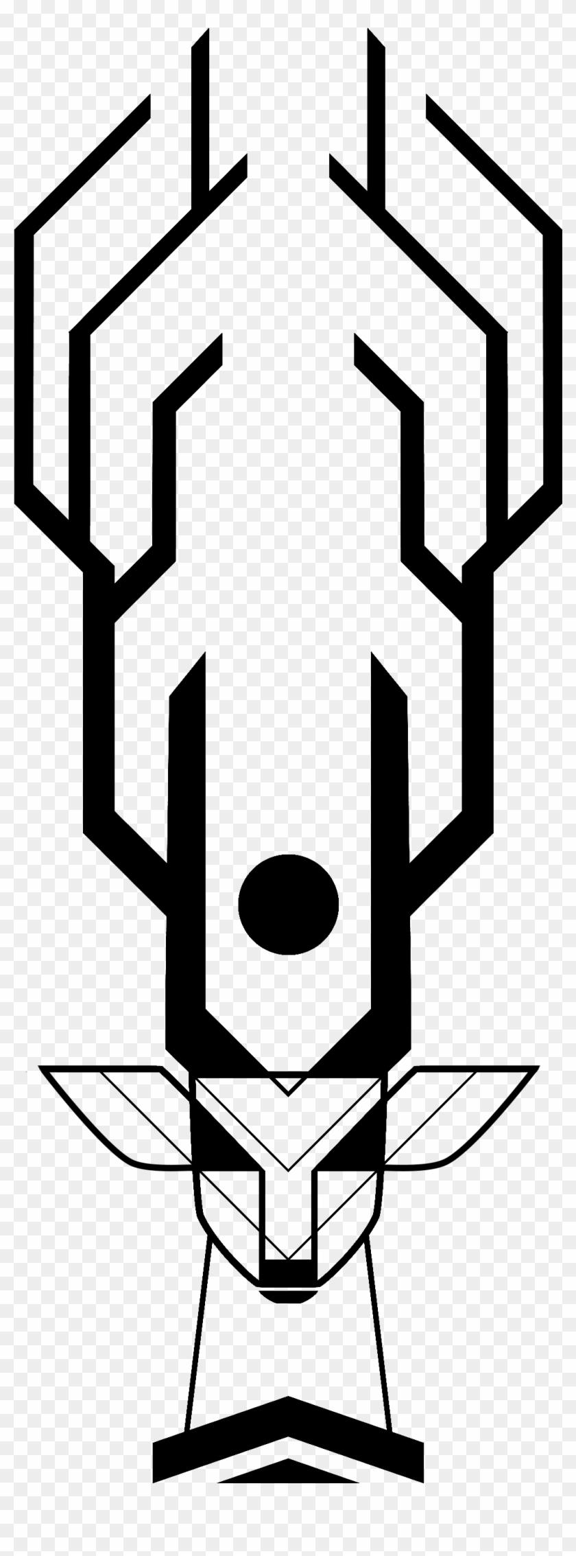 Deer Skull Crest - Tattoo Veado E Pássaros #720167