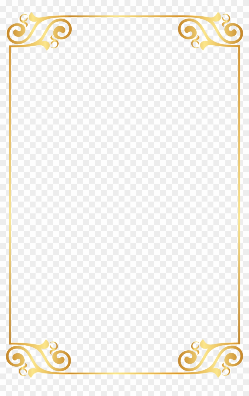 Gold Pattern Frame Pattern 2184*3372 Transprent Png - Vector Gold Border Gif #721047