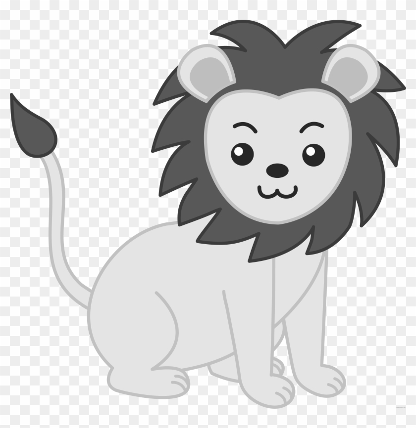 Baby Lion Animal Free Black White Clipart Images Clipartblack Zoo Animals Clipart Free Transparent Png Clipart Images Download