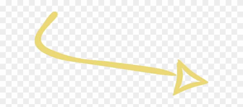 Arrow - Yellow Arrow Transparent Background #721341