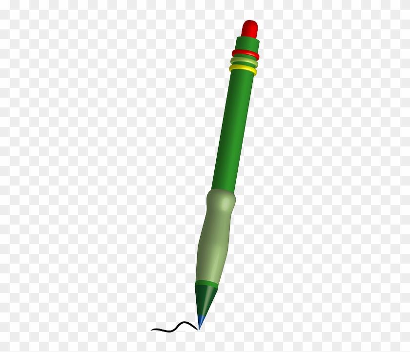 Scribble Pen Write Sketch Green Pencil Marker - Green Pen Writing #721501