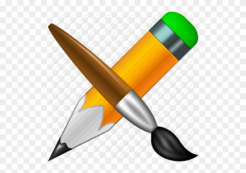 Icon Graphics Design Drawing - Draw And Paint Icon #721605