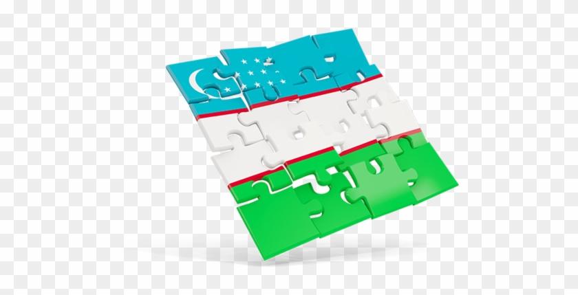 Illustration Of Flag Of Uzbekistan - European Union Logo Puzzle #721772