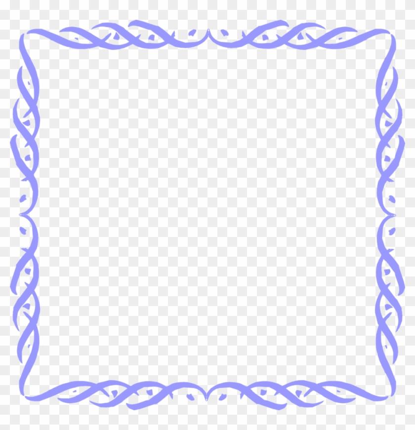 Border Frame Fancy Blue Border Transparent Background Free Transparent Png Clipart Images Download