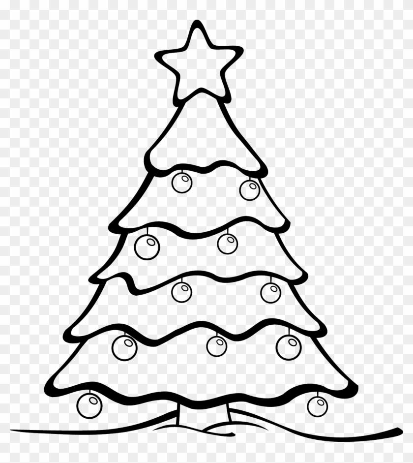 how to make christmas tree drawing