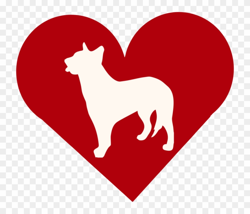 Australian Cattle Dog In Heart Outdoor Vinyl Silhouette - Eros Heart #723083