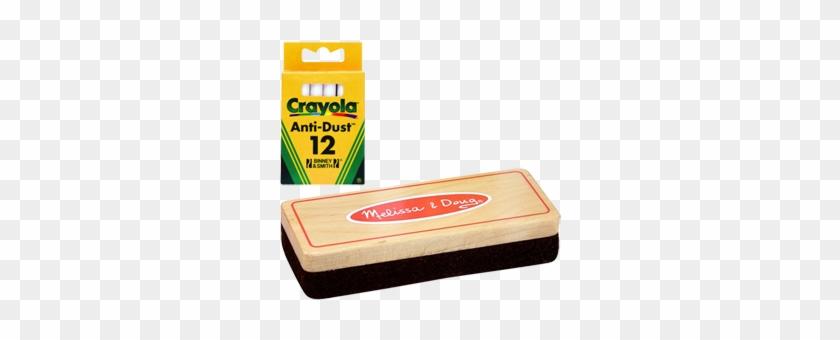 Felt Chalk Eraser & White Chalk 12pk - Crayola . 12 White Chalks - X10 #723226