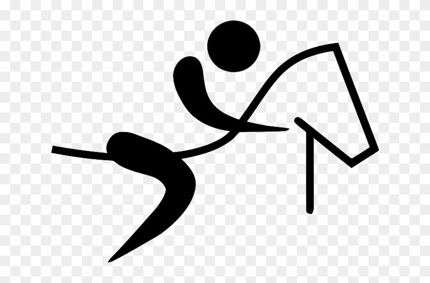 Horse, Sports, Pictogram, Riding, Stickman - Olympic Horse Riding Symbol #723235