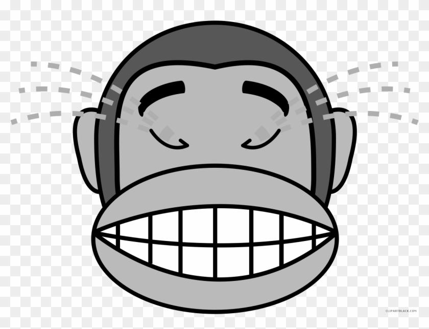 Monkey Emojis Animal Free Black White Clipart Images Happy Monkey Fascinating Monkey Covering Eyes Emoji Pillow