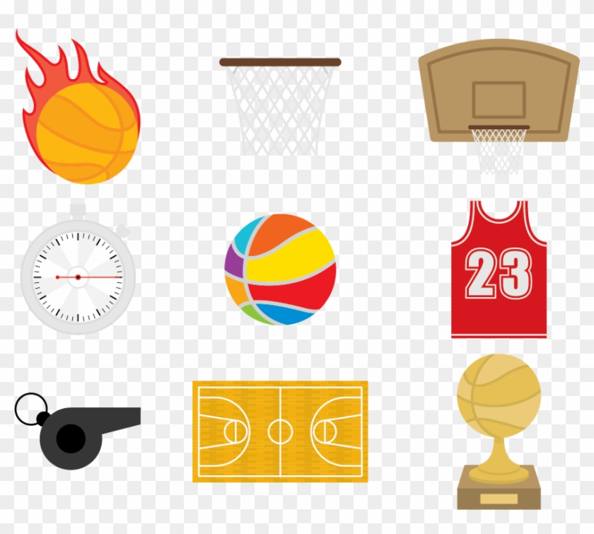 Basketball Court Clip Art - Basketball #725516