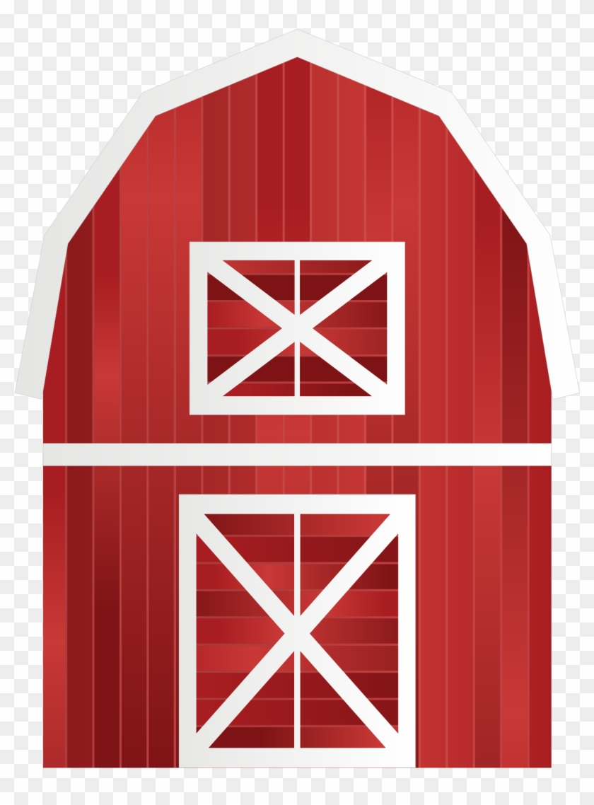 Barn Clip Art - Farm Animals Birthday Banner Personalized Party Backdrop #129573