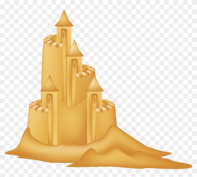 Sand Castle Clipart Picture - Sand Castle Clipart Transparent #129641
