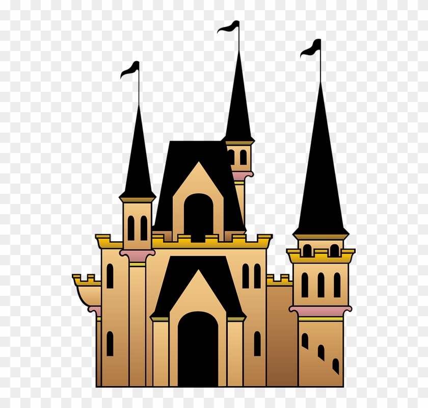 Castle Flags Windows Roof Towers - ปราสาท Png #129705