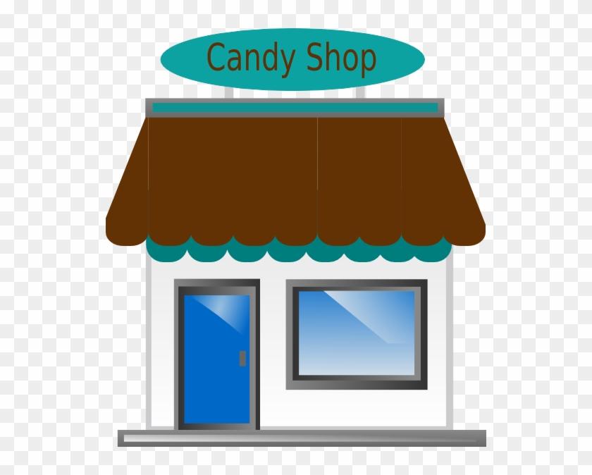 Candy Shop Front - Cartoon Store Transparent Background #129709