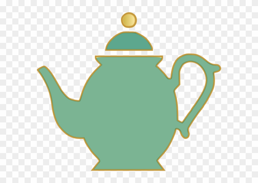 Tea Pot Green Clip Art At Clker Com Vector Clip Art - Tea Kettle Clip Art #129716