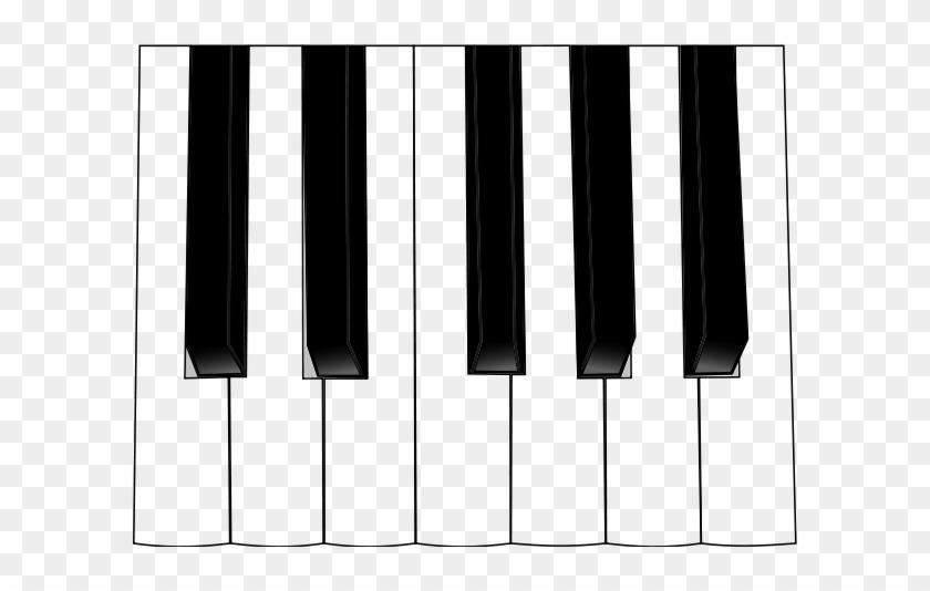 Computer Keyboard Clipart, Vector Clip Art Online, - Music Keyboard Vector Png #129746