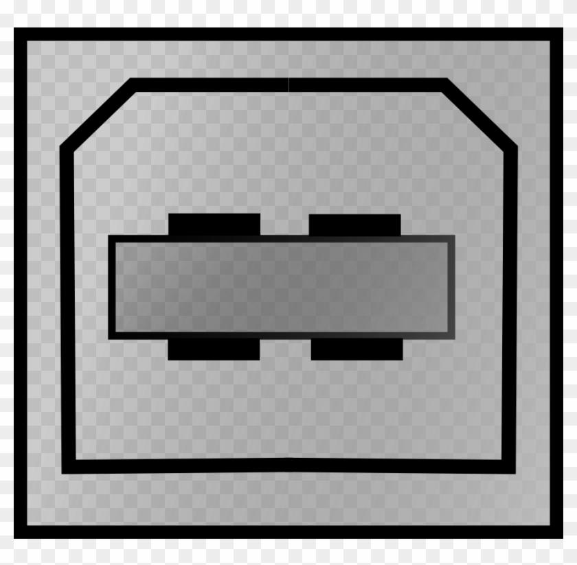 Connector Usb Type B Clipart, Vector Clip Art Online, - Usb #129776
