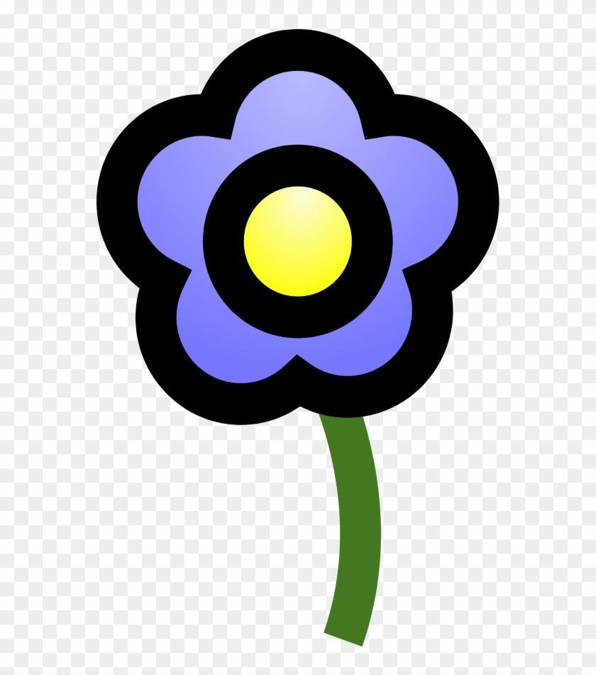 Blue Flower Svg Downloads - 藍 色 花 卡通 #129797