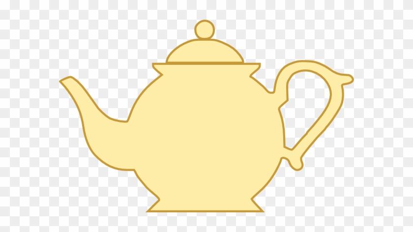 Teapot 1 Clip Art Slbp0v Clipart - Yellow Tea Pot Clip Art #129799