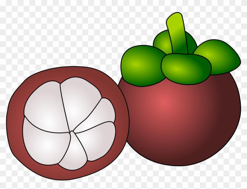 Manggis Fruit Clipartist - Mangosteen Clipart #129832