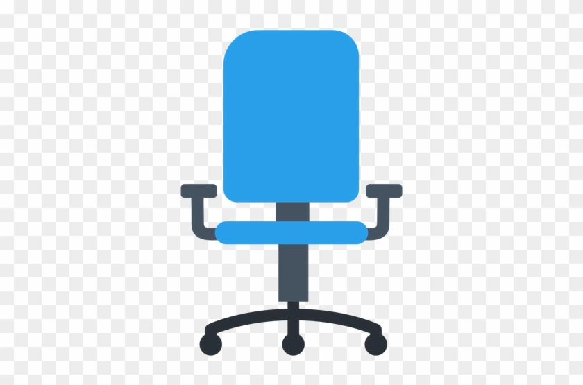 Blue Office Chair Clipart - Office Chair Icon Png #129853