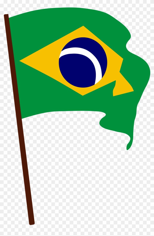 Bandera De Brasil Clip Art - Brazil Flag Clip Art #129854
