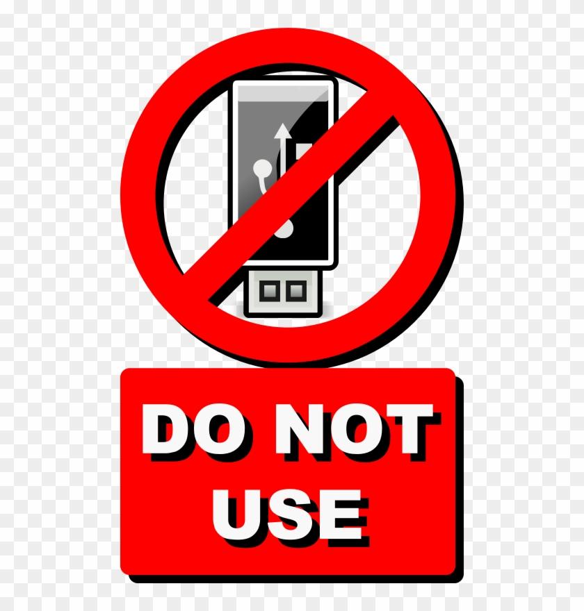 Do Not Use Usb Clip Art At Clkercom Vector - Do Not Use Usb #129930