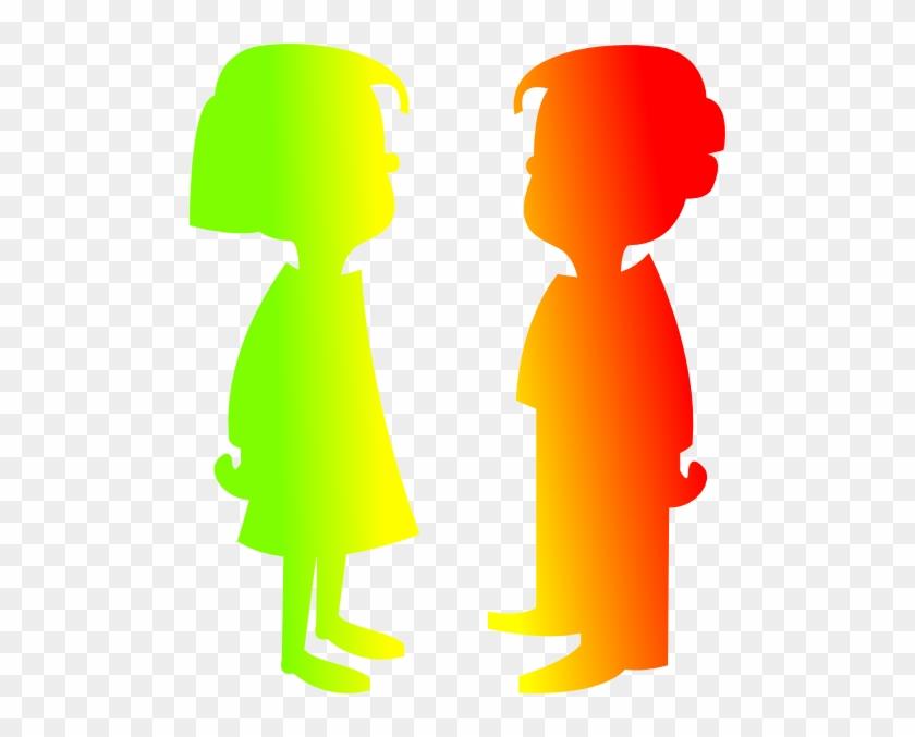 Figures Boy And Girl 7 Clip Art - Cartoon Girl And Boy #130017