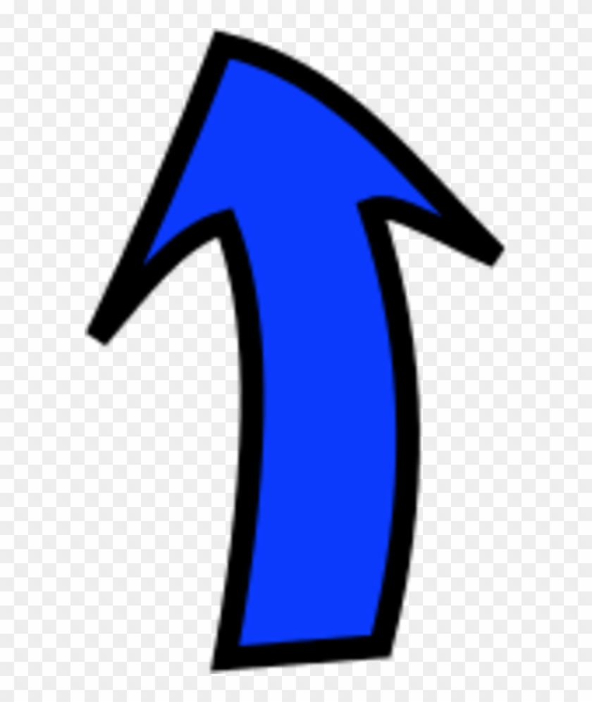 Arrow Pointing Up - Clip Art Curved Arrows #130036