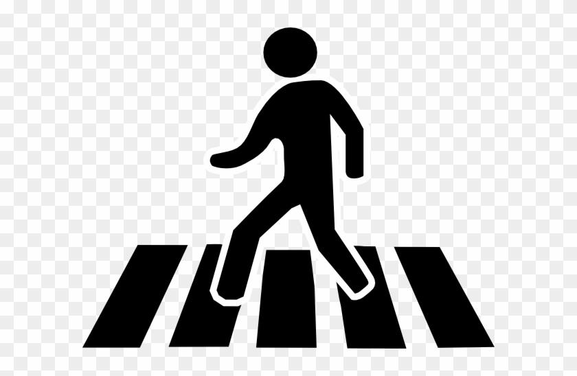Man Walking Clip Art At Clker - Zebra Crossing Clip Art #130051