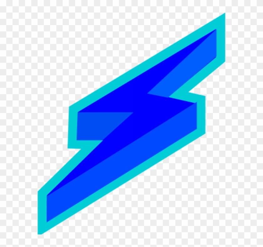Vector And Blue Lightning Bolt Through Tornado Clipart - Lightning Bolt Logo Blue #130083