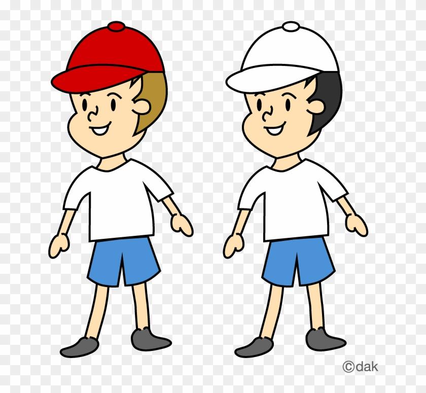 Education Images Free Download - 赤 白 帽子 を かぶる イラスト #130137