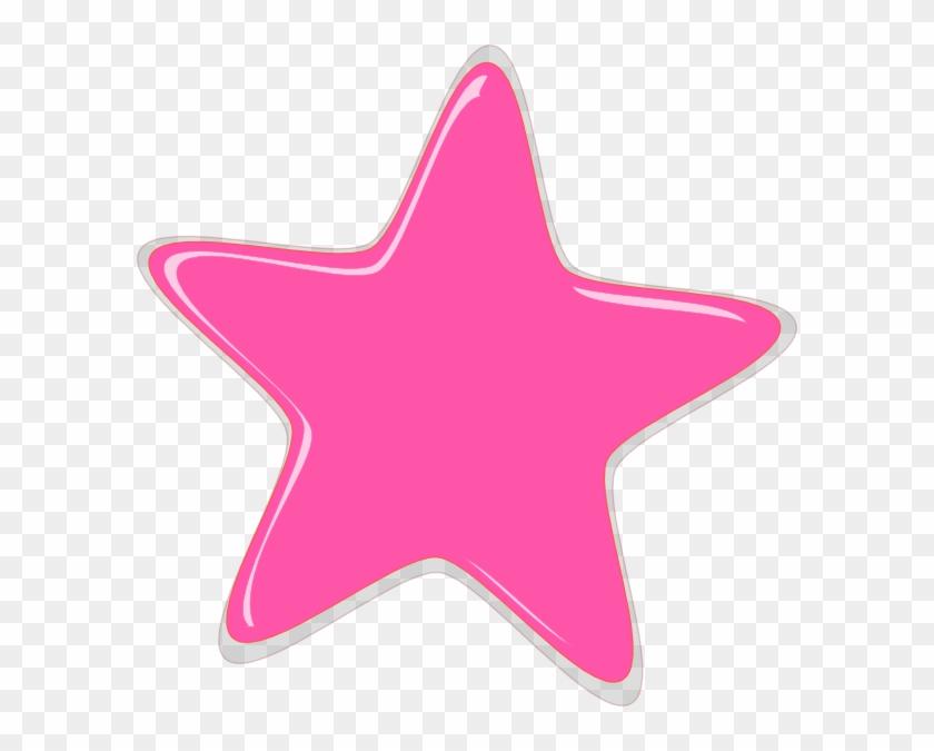 Pink Stars Clipart Pink Star Editedr Clip Art At Clker - Stars Clipart Pink #130264