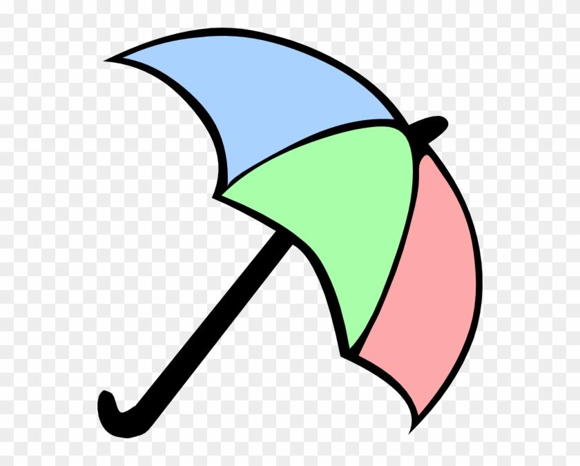 Colorful Cartoon Umbrella Clip Art - Cartoon Picture Of Umbrella #130384