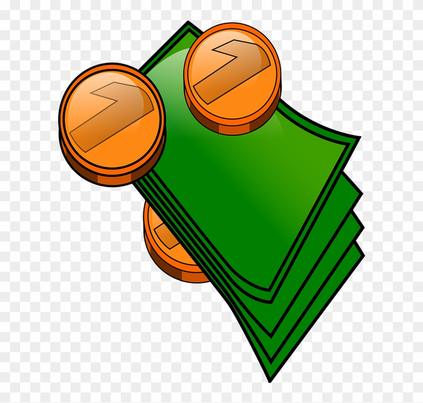 Money Coins And Bills Clip Art - Transparent Background Money Clipart #130423