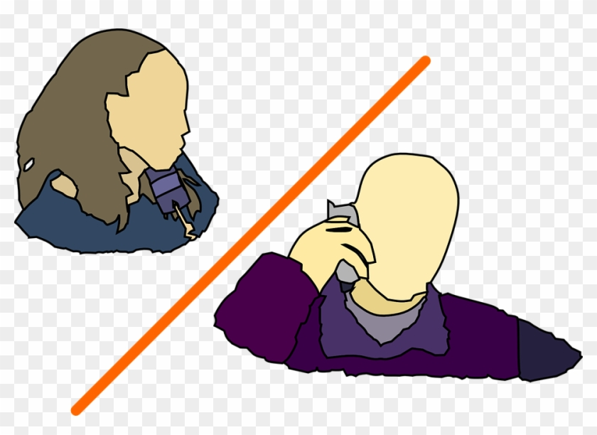 Man Lady Talking On The Phone Clip Art Two People On The Phone