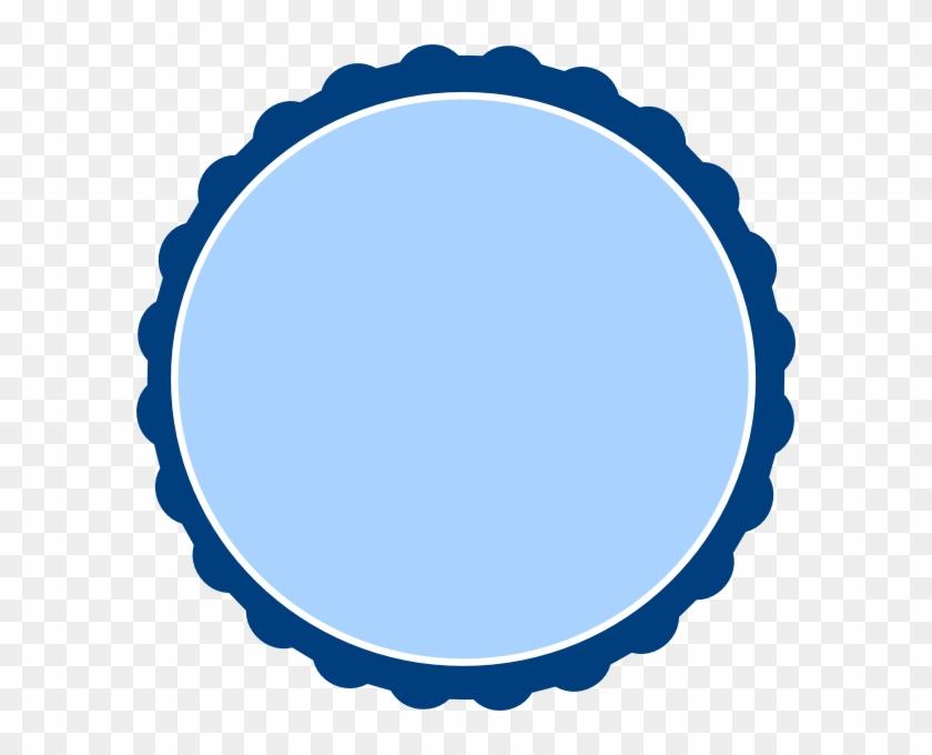 Dark Blue Scalloped Circle #130588