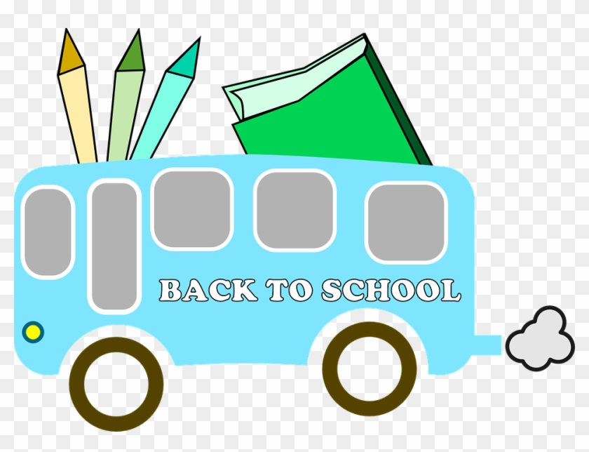 Back To School Clip Art - First Day To School Clipart Png #130593