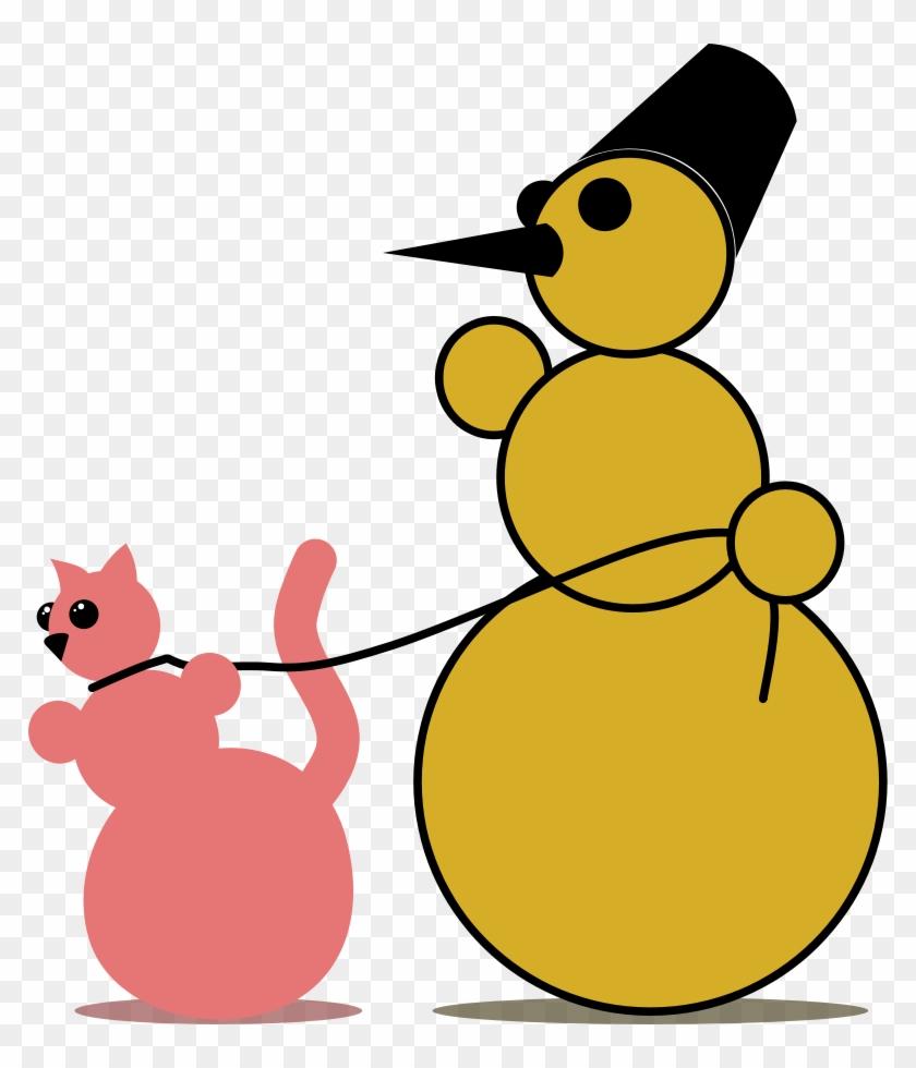 Snowman Clipart, Vector Clip Art Online, Royalty Free - Clip Art #130676