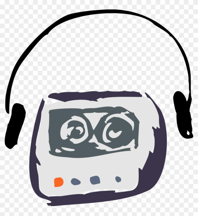 Cassette Player Clipart, Vector Clip Art Online, Royalty - Cassette Player Clip Art #130703