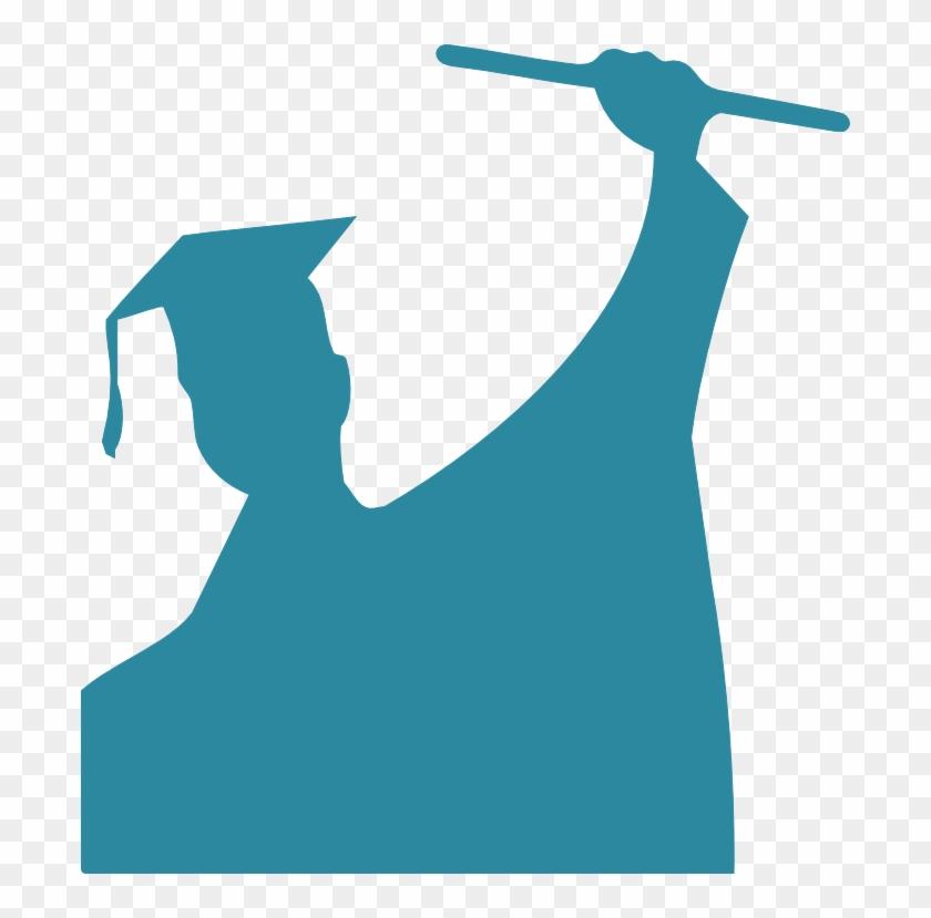 Free Digital Congratulation Scrapbooking Embellishment - Graduate Silhouette Transparent Background #130724